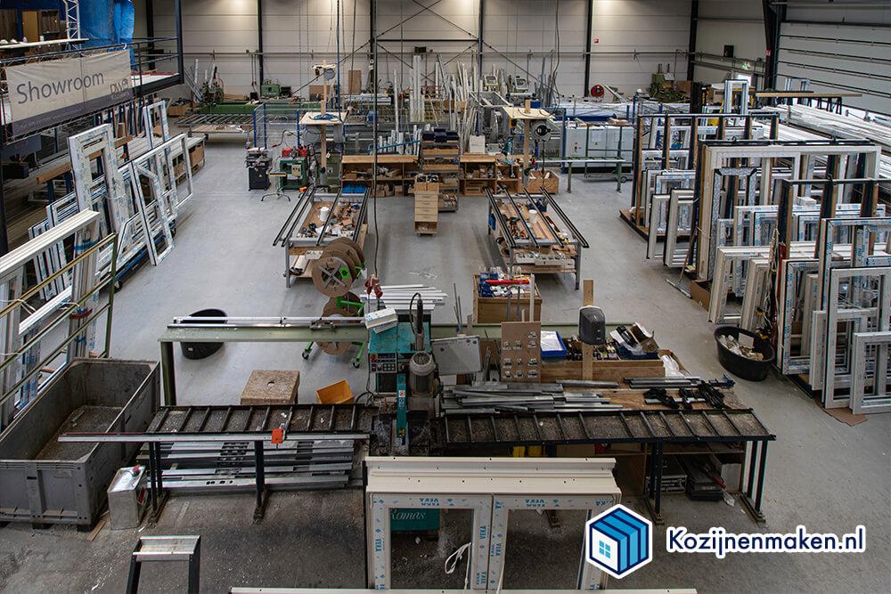 Onze kunststof fabriek van bovenaf