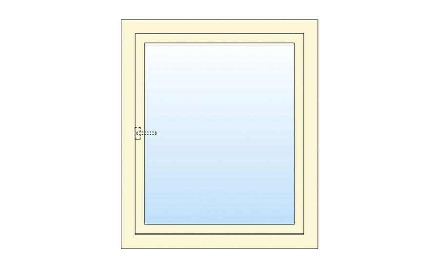 Technische tekening draai kiep raam
