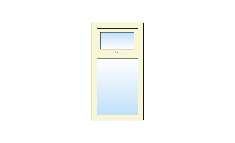 Technische tekening Vast-Bovenlicht kiep kozijn